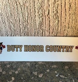 Duty, Honor, Country Bumper Strip, 3 x 12