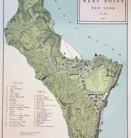 Map of West Point, circa 1883/Numbered/16 by 24 inches