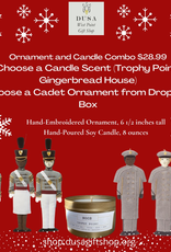 Trophy Point Candle/St. Nicholas Cadet Ornament Candle Combo