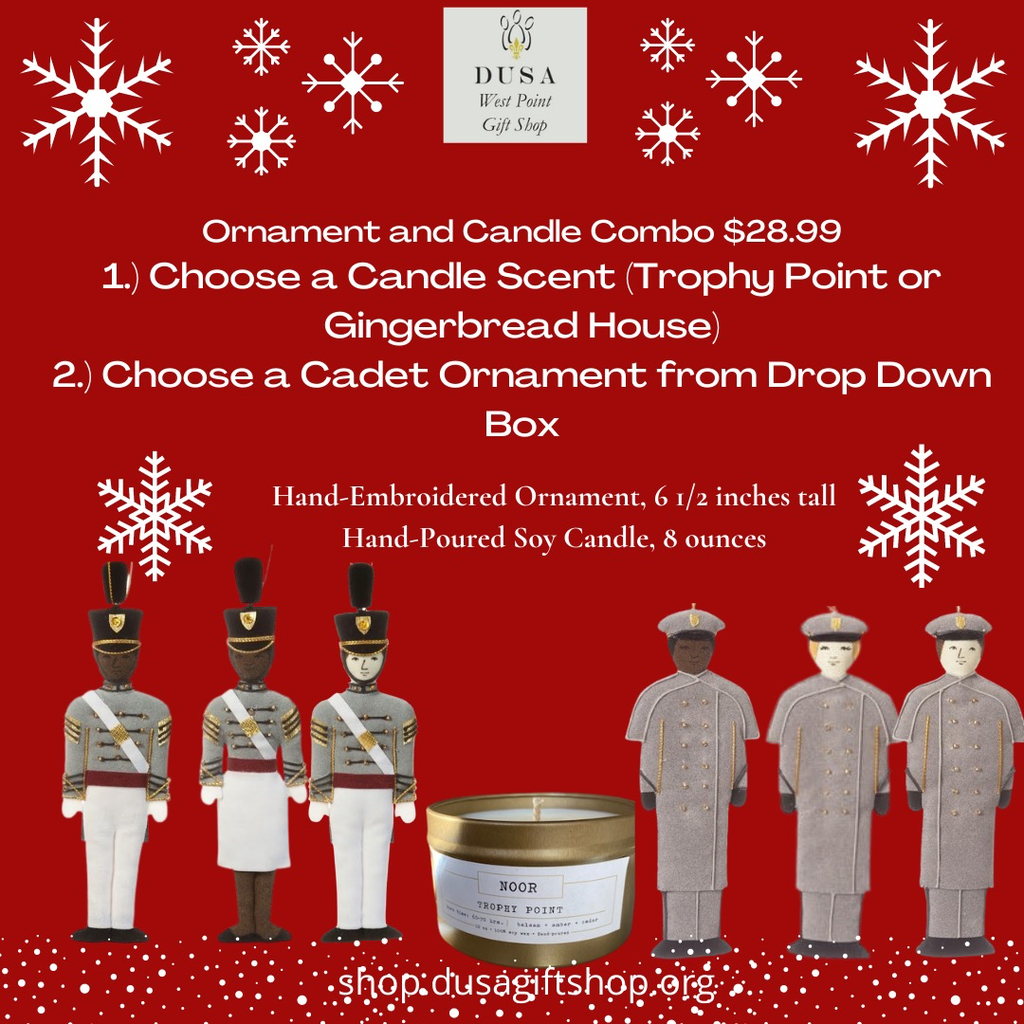 Gingerbread House Candle/St. Nicholas Cadet Ornament/Combo
