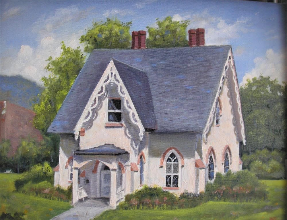 Gingerbread House Print,( 5 x 7,Matted, Signed and Numbered)JG