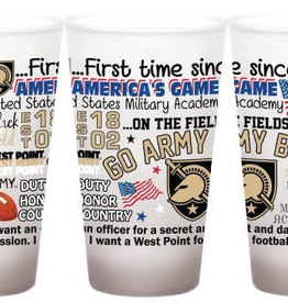 Delivery for Game Not Guaranteed:PREORDER GO ARMY BEAT NAVY Frosted Pint Glass (16 ounce)