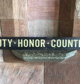 """Duty, Honor, Country"" Doorway Plank Sign (4 x 36 inches)"