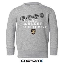 Toddler Crew Sweatshirt (Eat, Sleep, & Beat Navy)