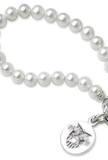 West Point Pearl Bracelet with Sterling Silver Charm (Special Order)