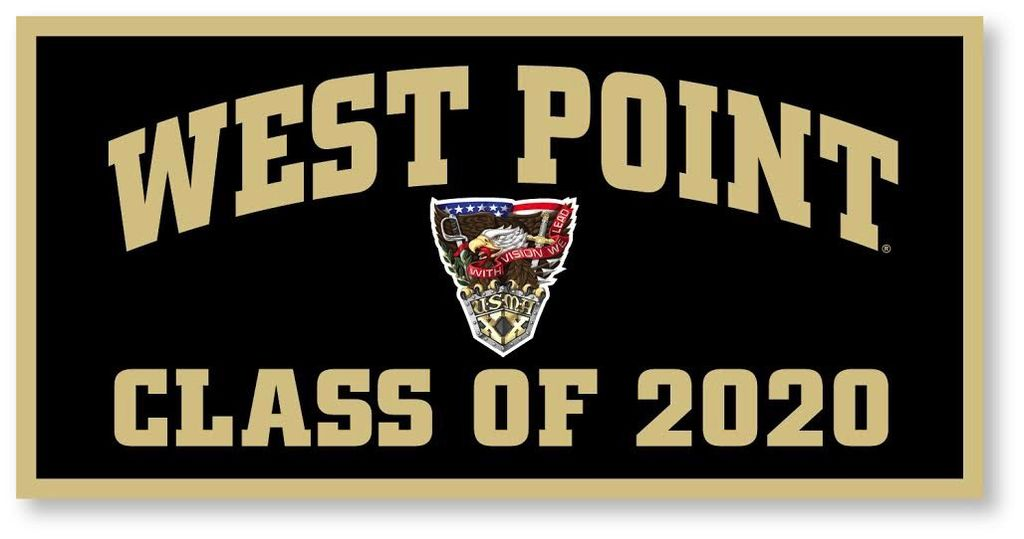 West Point Class of 2020 Crest Banner, 18 x 36 (Class Specific Crest)