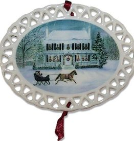 Sleigh at the Point Christmas Ornament (D. Remine)