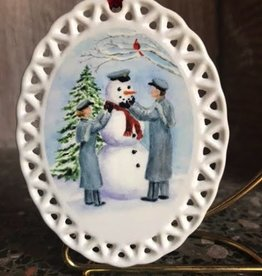 """Winter""/Snowman With Cadets Ornament (D. Remine)"