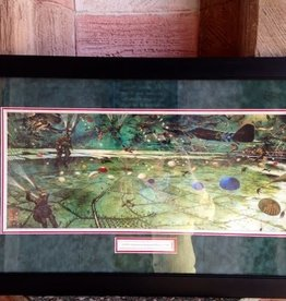 D-Day Mural (Green War Mural) Framed Print (21 x 33)