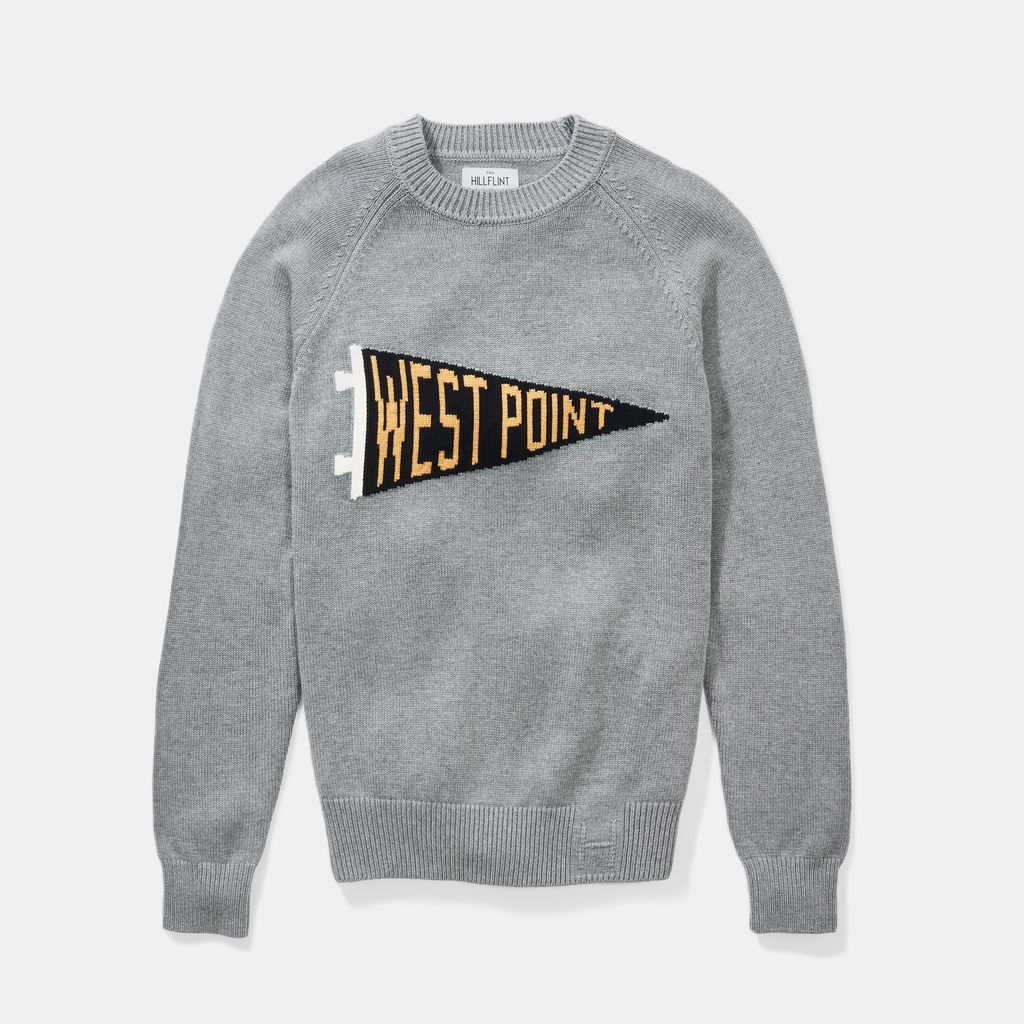 West Point Pennant Crewneck Sweater (Hillflint)