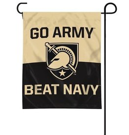 """GO ARMY/Beat Navy"" Garden Flag with Shield"
