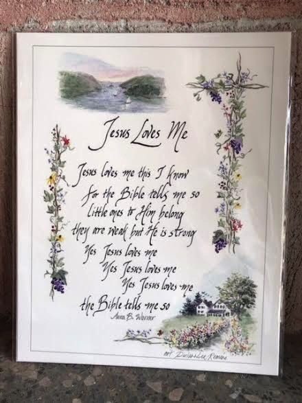 """""""Jesus Loves Me""""( 8X10)"""