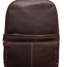 Kannah Canyon Leather Backpack with Crest (Drop Ship)