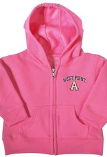 """Infant Zip Hood (West Point/Block """"A""""/Gray or Pink)"""