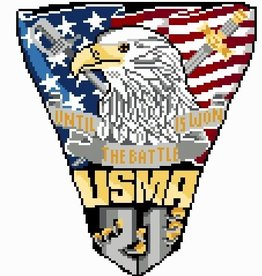 West Point Class of 2021 Crest Cross Stitch Kit (Posy)