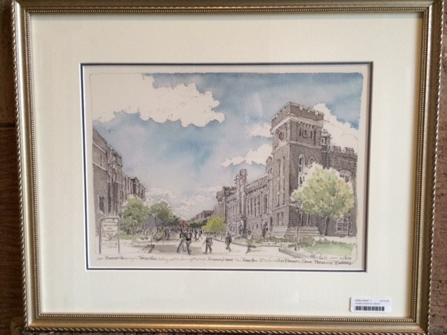 Framed Thayer Walk Looking South Print (M.Mullin)