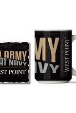 Go Army Beat Navy Mug and Coaster Combo