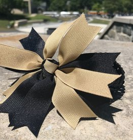 Pinwheel Bow on Crochet Headband (Miss Ashley Originals)