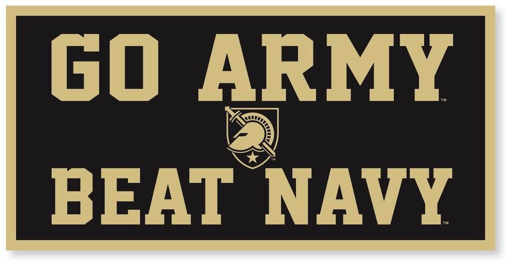 GO ARMY/Beat Navy Banner, Black (18 x 36)