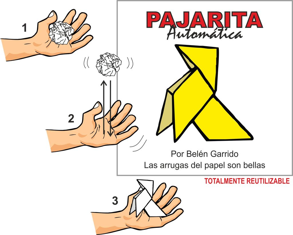 GATO Self-Folding Origami Bird | Pajarita Automatica