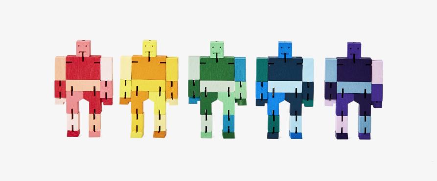 PUZZ Cubebot, Blue Multi, Micro