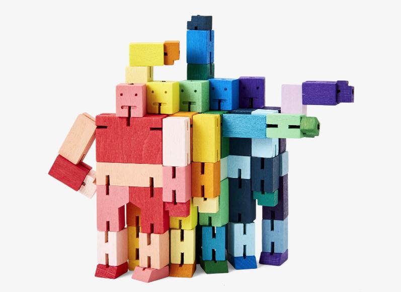 PUZZ Cubebot, Purple Multi, Small