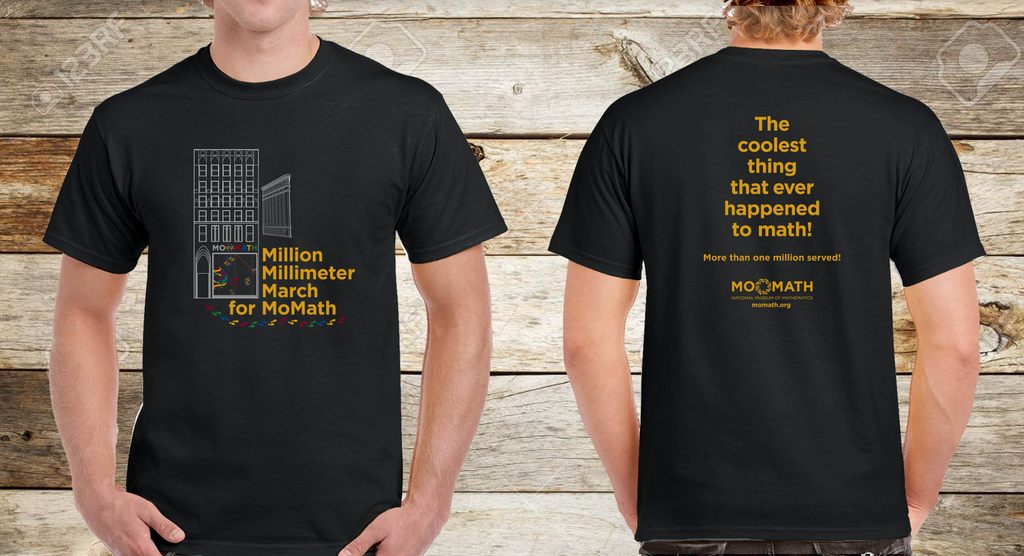 APPA/ACCES Million Millimeter March for MoMath Shirt - Youth Sizes Only
