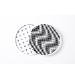 HOME Glass Dot & Wave Moire Coasters