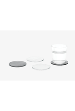 HOME Glass Dot & Wave Moiré Coasters