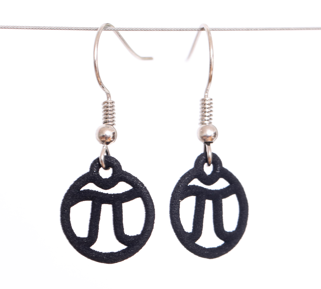 JEWE 3D Printed Tiny Pi Earrings | Hanusa Design