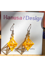 JEWE 3D Printed Hyperoctohedron Earrings | Hanusa Design