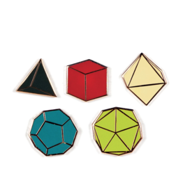 JEWE Platonic Solid Pins