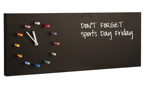 HOME Wall Clock & Chalk Board