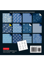 BODV Origami Paper: Blue and White Patterns