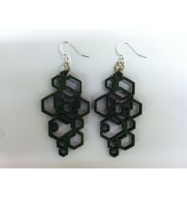 JEWE Hex Cluster Earrings - Kelly Green