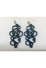 JEWE Hex Cluster Earrings - Teal