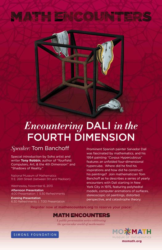 BODV Math Encounters | Encountering Dali in the Fourth Dimension