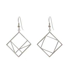 JEWE Cofactor Sterling Silver Pythagorean Theorem Earrings