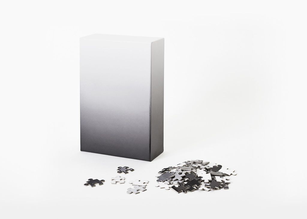 PUZZ Gradient Puzzle, 500 Pcs - Gray/White