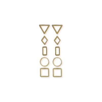 JEWE Geometric Earring Stud Set