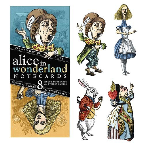 HOME Alice in Wonderland Note Card Set