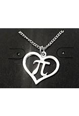 JEWE Pi Heart Pendant