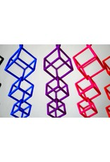 JEWE 3D Printed Interlocking Cube Earrings | Hanusa Design