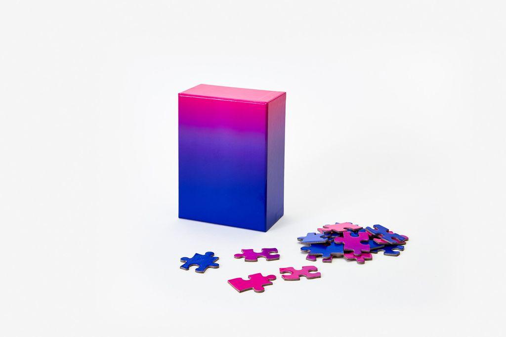 PUZZ Gradient Puzzle, 100 Pcs - Blue/Pink
