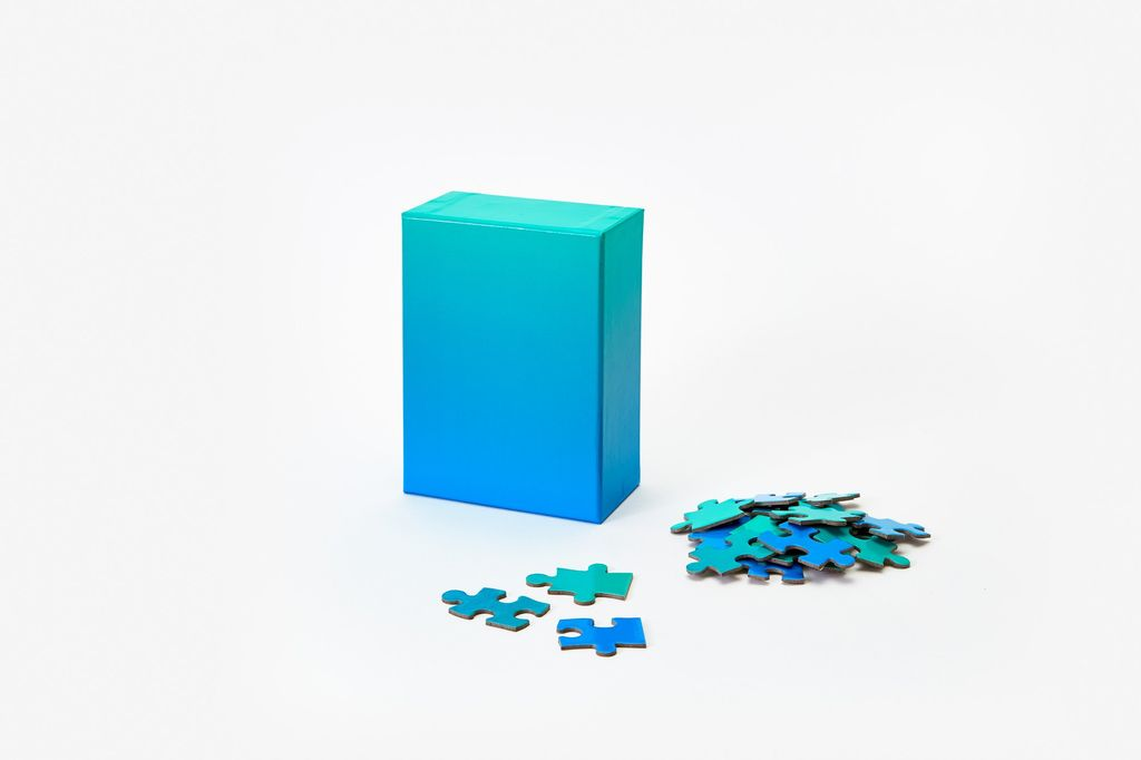 PUZZ Gradient Puzzle, 100 Pcs - Green/Blue