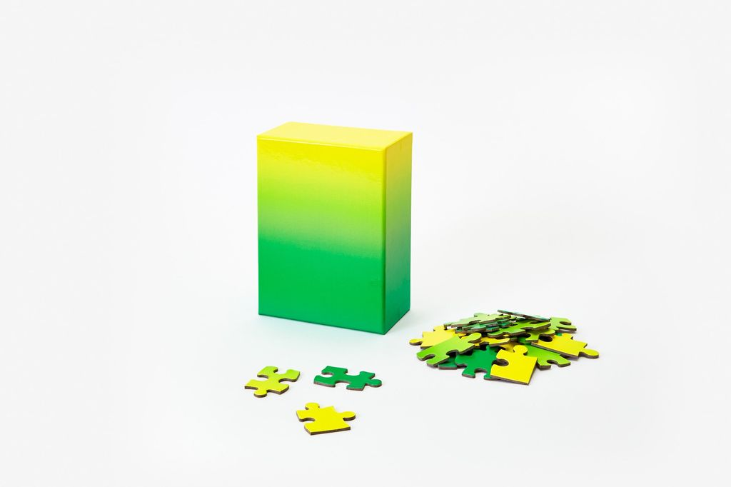 PUZZ Gradient Puzzle, 100 Pcs - Green/Yellow