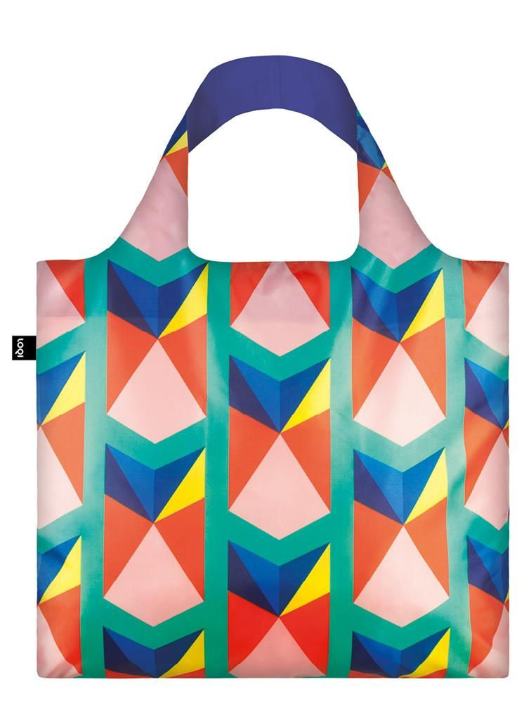 HOME LOQI Geometric Triangles Bag