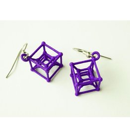 JEWE 3D Printed Hypercube Earrings | Hanusa Design