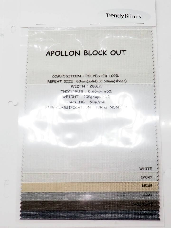 Trendy Blinds Combi Apollon BO room darkening [CMTD-AP]