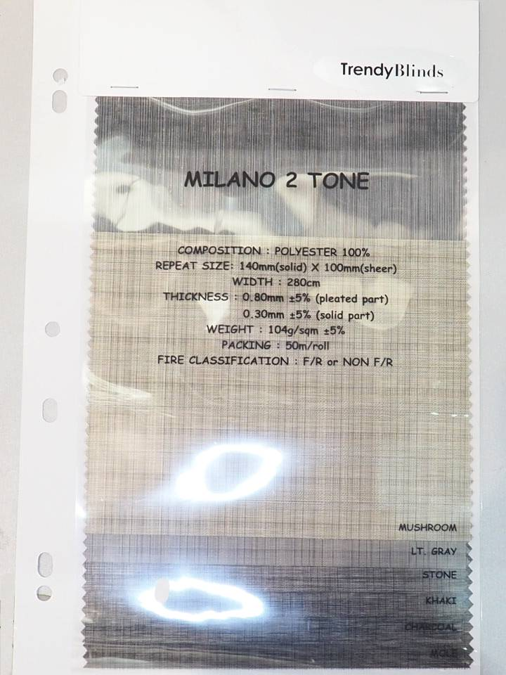Trendy Blinds Milano 2 Tone [TWNB-M2]